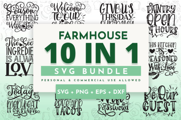 Print on Demand: Farmhouse Bundle Graphic Crafts By OrinDesign