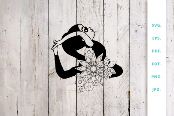 Download Free Floral Cute Yoga Girl Cut File 1 Graphic By Sintegra Creative SVG Cut Files