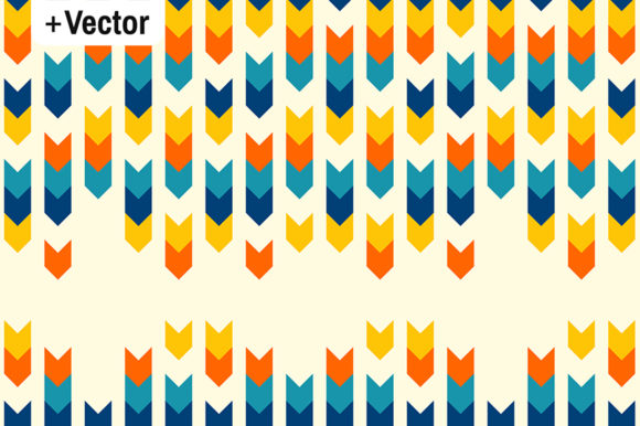 Print on Demand: Geometric Arrows Stripes Colorful Patter Graphic Patterns By Dana Du Design
