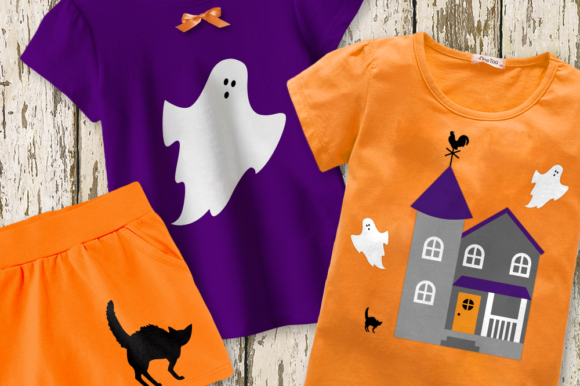 Halloween Haunted House Graphic Crafts By DesignedByGeeks