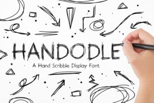 Print on Demand: Handodle Display Font By putracetol