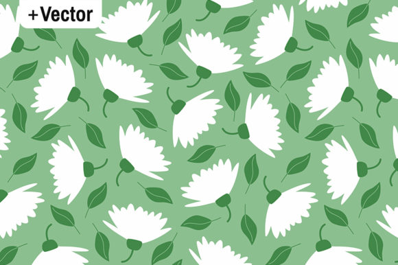 Download Free Large Scale White Spring Flowers Pattern Graphic By Dana Du for Cricut Explore, Silhouette and other cutting machines.