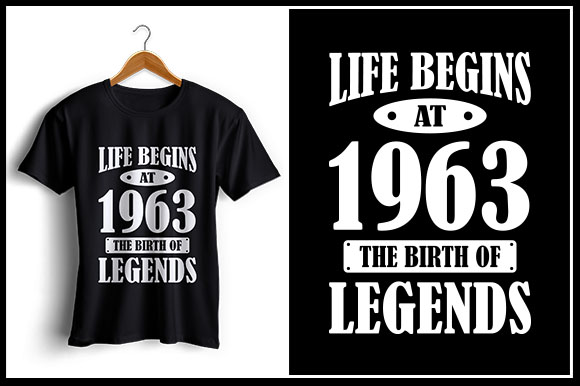 Download Free Life Begins At 1963 The Birth Of Legends Graphic By Zaibbb for Cricut Explore, Silhouette and other cutting machines.