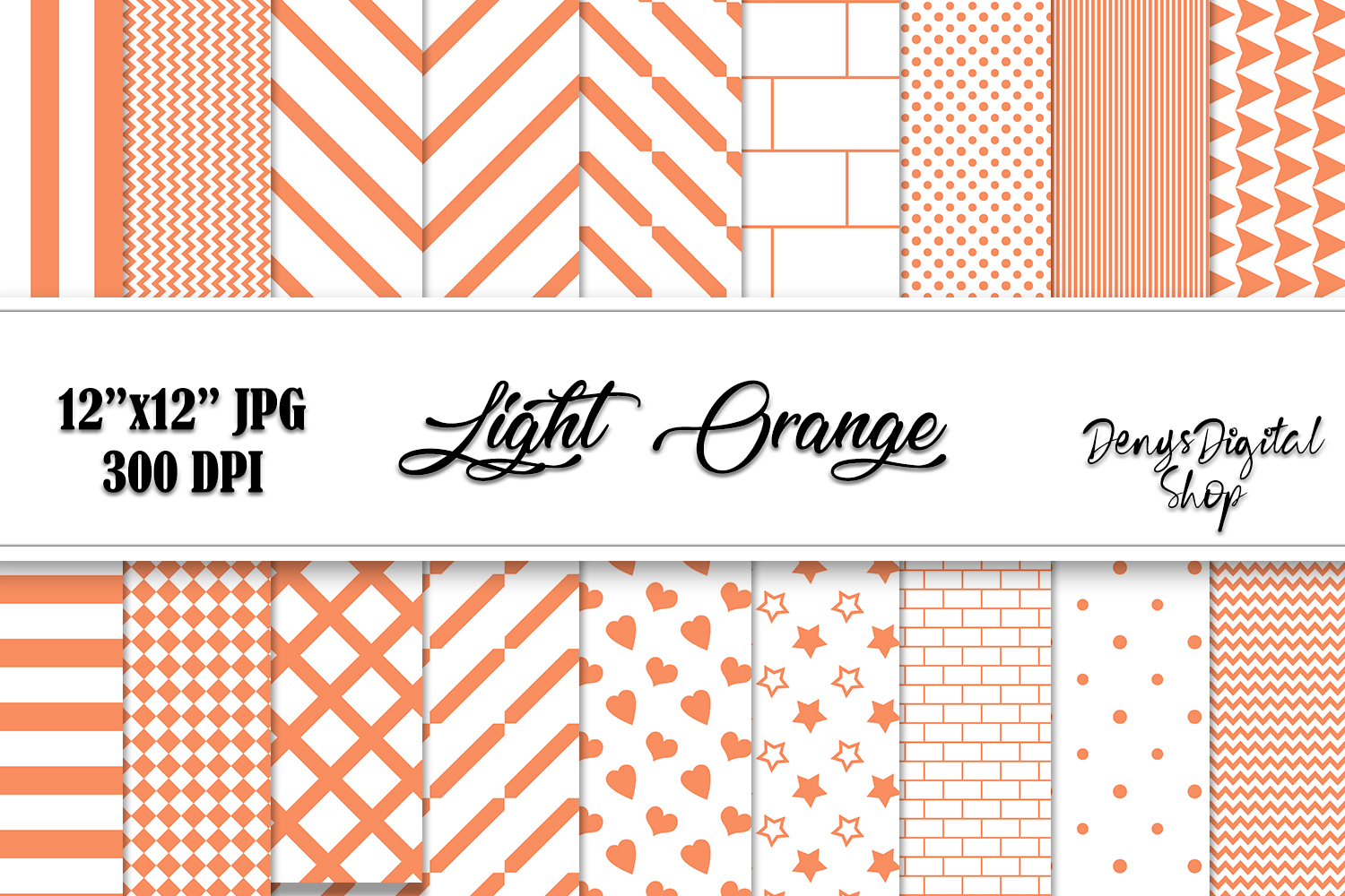 Download Free Light Orange Papers Scrapbook Papers Graphic By for Cricut Explore, Silhouette and other cutting machines.
