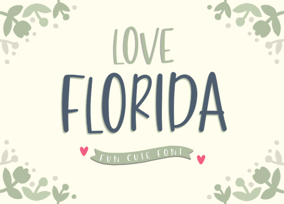 Print on Demand: Love Florida Script & Handwritten Font By silverdav