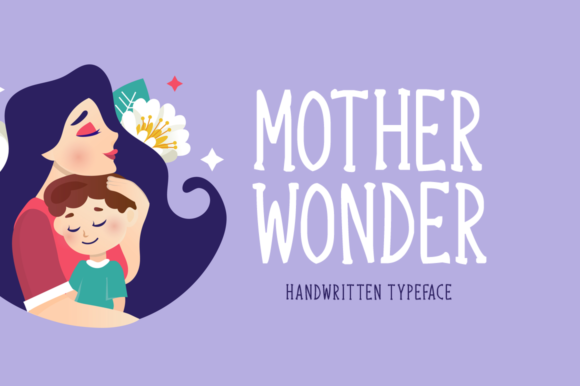 Download Free Mother Wonder Font By Seemly Fonts Creative Fabrica for Cricut Explore, Silhouette and other cutting machines.