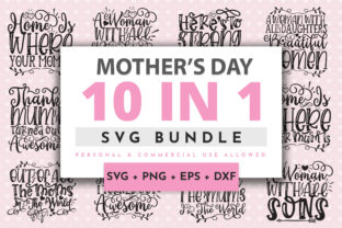 Print on Demand: Mother's Day Bundle Graphic Crafts By OrinDesign