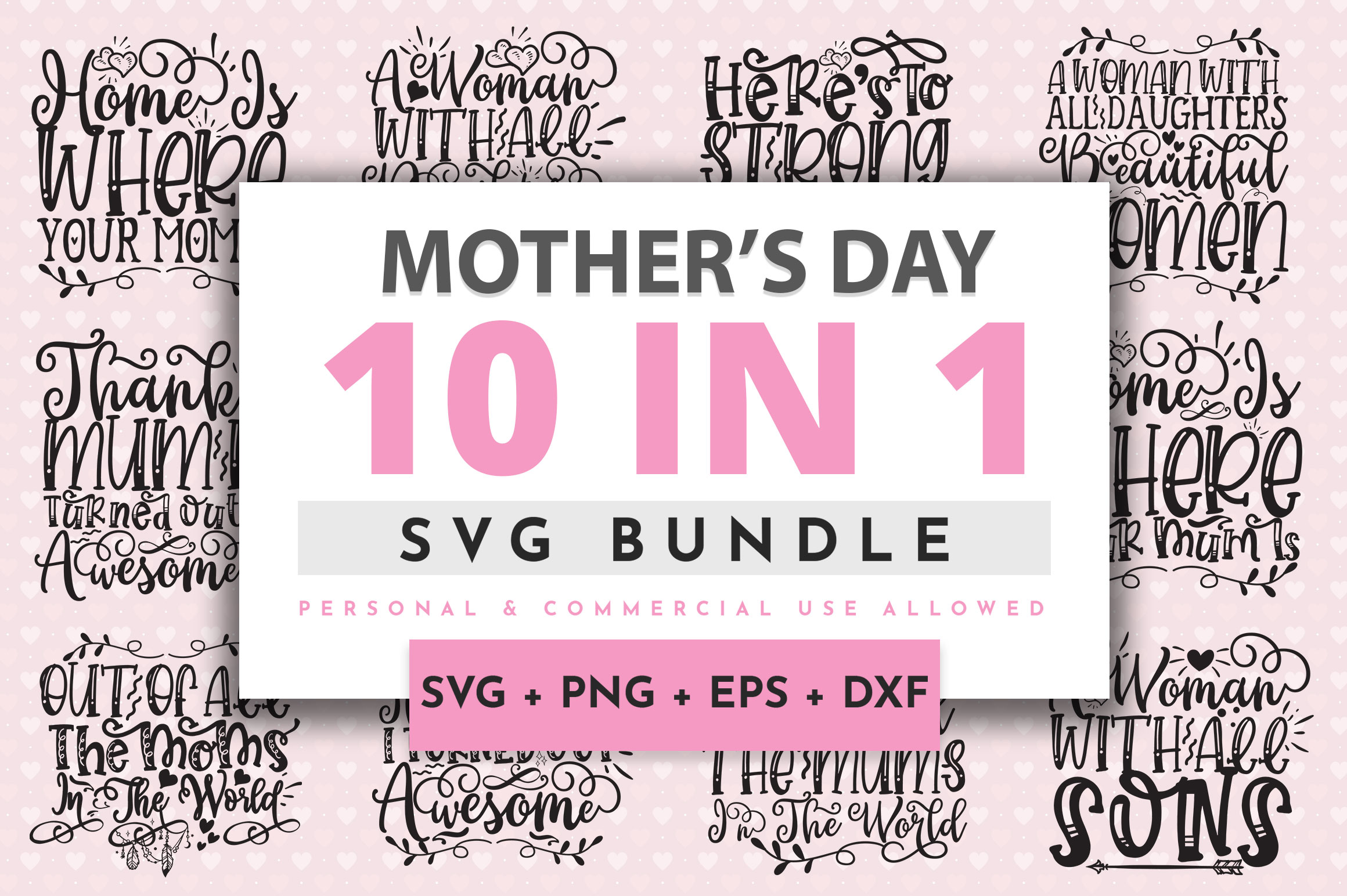 Download Free Mother S Day Bundle Graphic By Orindesign Creative Fabrica for Cricut Explore, Silhouette and other cutting machines.