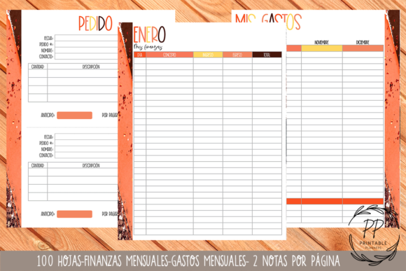 Print on Demand: Order Book Graphic Print Templates By Printable Planners