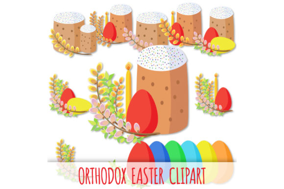 Download Free Orthodox Easter Clipart Graphic By Bunart Creative Fabrica for Cricut Explore, Silhouette and other cutting machines.