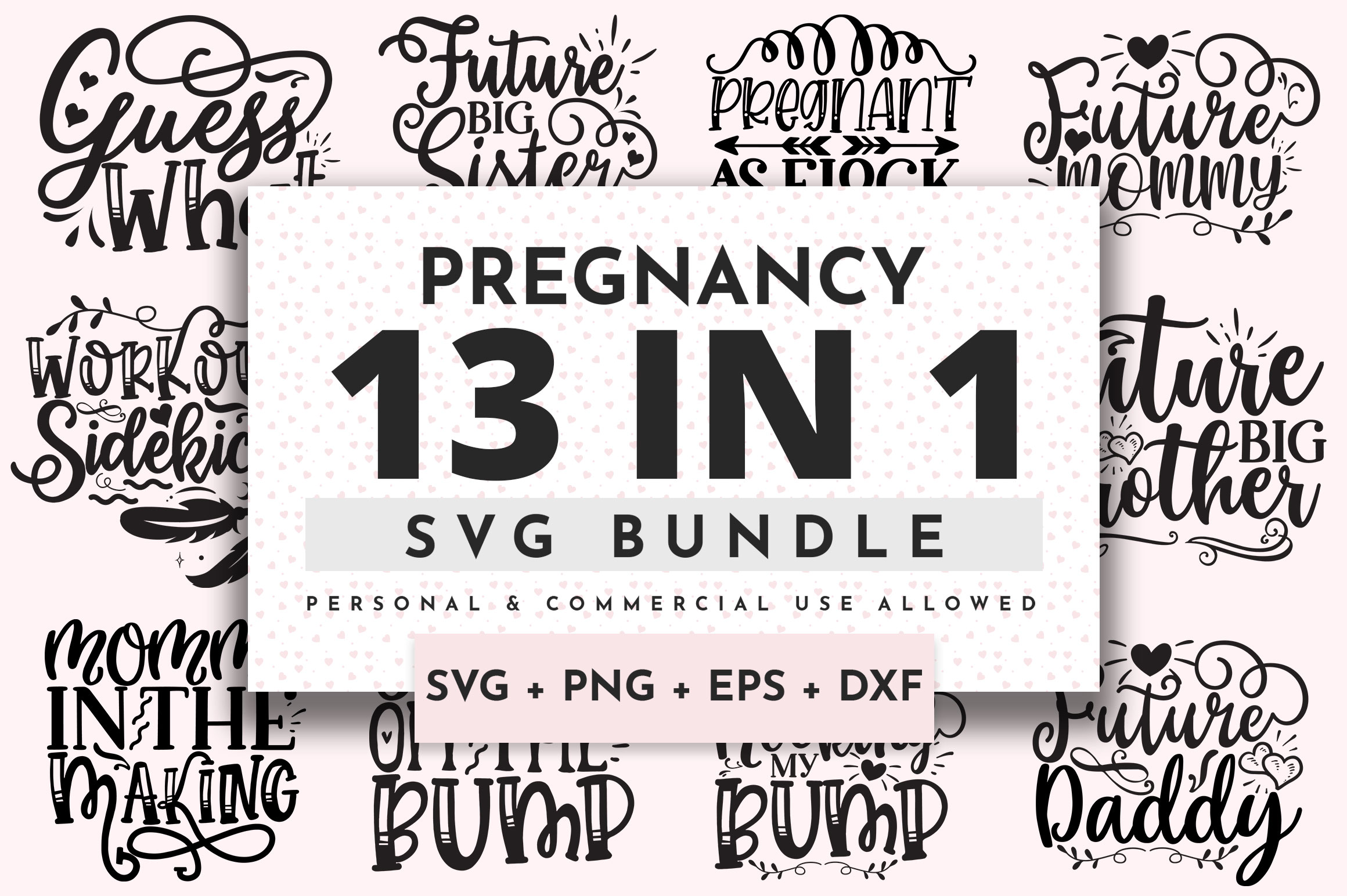Download Free Pregnancy Bundle Graphic By Orindesign Creative Fabrica for Cricut Explore, Silhouette and other cutting machines.