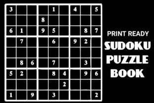 Download Free Print Ready Sudoku Puzzle Book Vol 105 Graphic By Ermannofficial for Cricut Explore, Silhouette and other cutting machines.