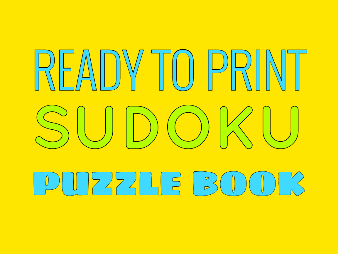 Download Free Print Ready Sudoku Puzzle Book Vol 55 Graphic By Ermannofficial for Cricut Explore, Silhouette and other cutting machines.