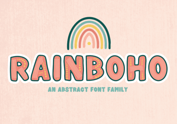 Print on Demand: Rainboho Display Font By The Pretty Letters
