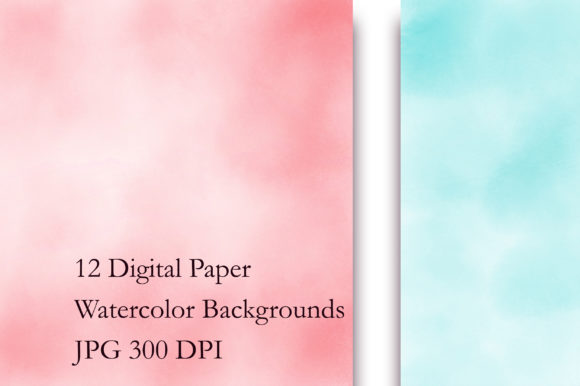 Rainbow Ombre Watercolor Digital Papers Graphic Backgrounds By PinkPearly - Image 2