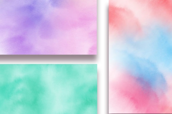 Rainbow Ombre Watercolor Digital Papers Graphic Backgrounds By PinkPearly - Image 3