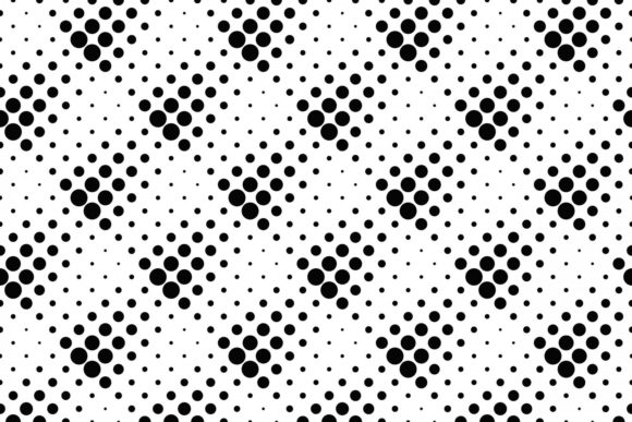 Download Free Seamless Monochrome Dot Pattern Graphic By Davidzydd Creative for Cricut Explore, Silhouette and other cutting machines.