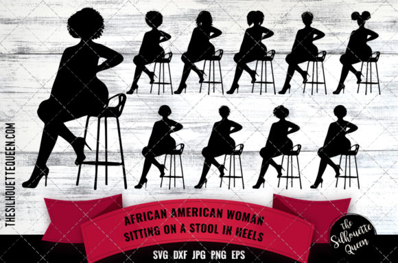 Download Free Sexy African American Woman Graphic By Thesilhouettequeenshop for Cricut Explore, Silhouette and other cutting machines.