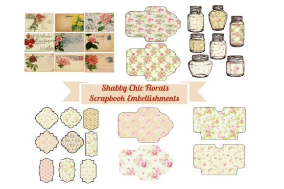 Download Free Shabby Chic Floral Journal Scrapbook Kit Graphic By Scrapbook for Cricut Explore, Silhouette and other cutting machines.
