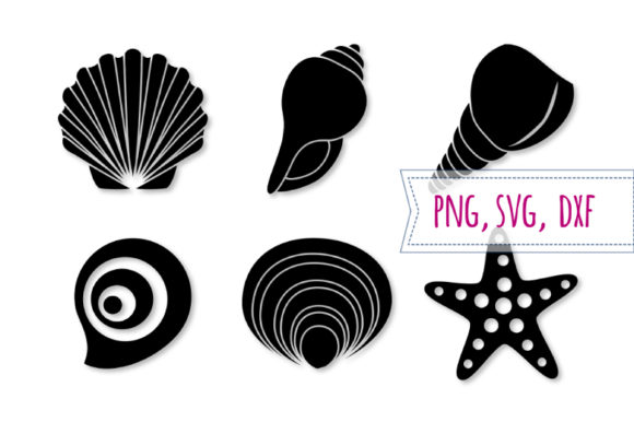 Download Free Shell And Starfish Set Graphic By Bunart Creative Fabrica for Cricut Explore, Silhouette and other cutting machines.