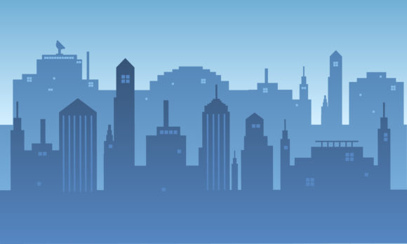 Download Free City Silhouette The Background At Sunset Graphic By Cityvector91 for Cricut Explore, Silhouette and other cutting machines.
