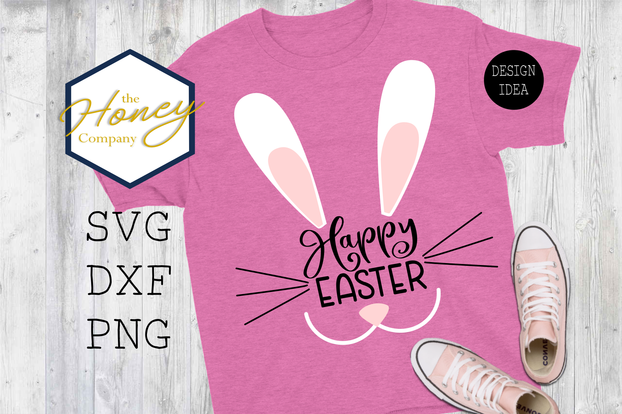 Download Free Simple Easter Bunny Kids Graphic By The Honey Company Creative for Cricut Explore, Silhouette and other cutting machines.