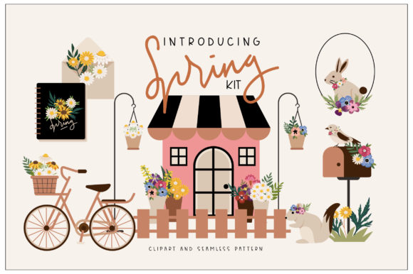 Download Free Spring Kit Graphic By Caoca Studios Creative Fabrica for Cricut Explore, Silhouette and other cutting machines.
