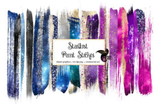 Print on Demand: Stardust Brush Strokes Clipart Graphic Illustrations By Digital Curio