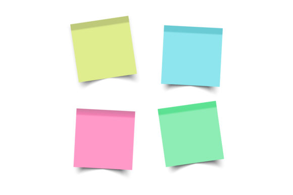 Stickers Square. Sticky Notes. Paper Graphic Product Mockups By gee-00