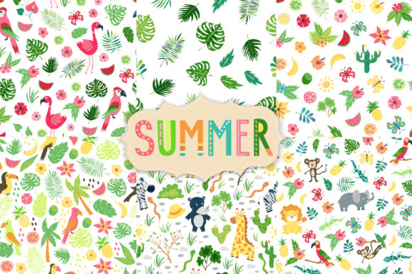 Summer Tropical Cute Vector Pack Graphic Illustrations By Larysa Zabrotskaya - Image 4
