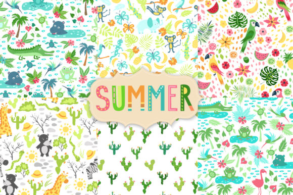 Summer Tropical Cute Vector Pack Graphic Illustrations By Larysa Zabrotskaya - Image 5