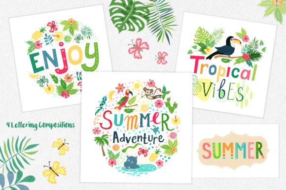 Summer Tropical Cute Vector Pack Graphic Illustrations By Larysa Zabrotskaya - Image 6