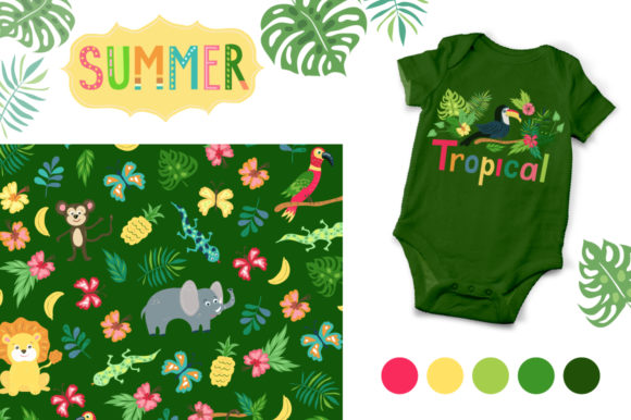 Summer Tropical Cute Vector Pack Graphic Illustrations By Larysa Zabrotskaya - Image 7