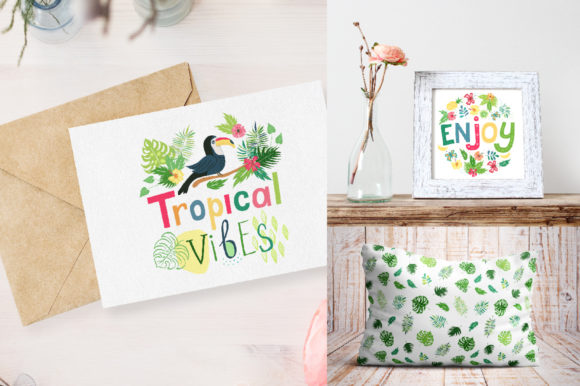 Summer Tropical Cute Vector Pack Graphic Illustrations By Larysa Zabrotskaya - Image 9