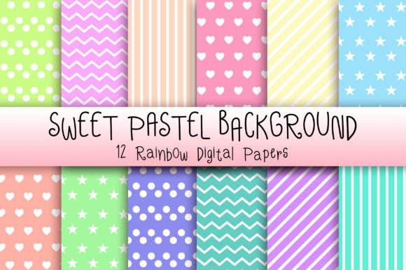 Download Free Sweet Pastel Background Digital Papers Graphic By Pinkpearly for Cricut Explore, Silhouette and other cutting machines.
