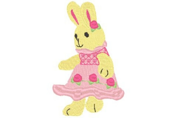 Tea Rose Bunnie Easter Embroidery Design By Sue O'Very Designs