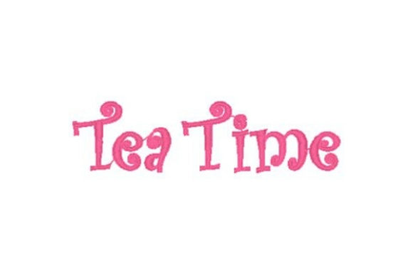 Tea Time Tea & Coffee Embroidery Design By Sue O'Very Designs