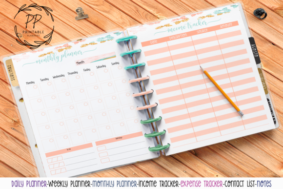 Download Free Us Letter Printable Planner 46 Grafico Por Printable Planners for Cricut Explore, Silhouette and other cutting machines.