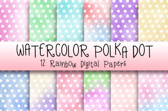 Watercolor Polka Dot Background Graphic Backgrounds By PinkPearly