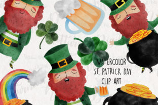 Watercolor St. Patrick's Day Clipart. Graphic Crafts By NotturnoClipArt