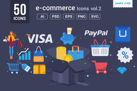 Print on Demand: E- Commerce  Vector Icons V2 Graphic Icons By jumboicons