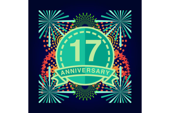 Download Free 17 Anniversary Poster Banner Vector Graphic By for Cricut Explore, Silhouette and other cutting machines.