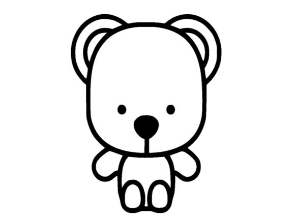 Print on Demand: Bear Icon Graphic Icons By ermannofficial