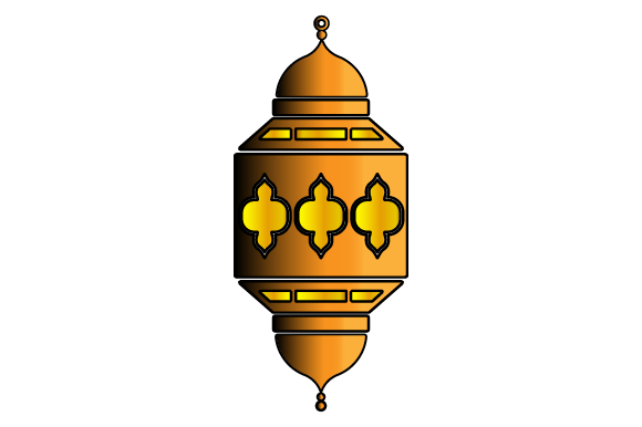 Download Free Islamic Lantern Graphic By Muhammad Riza Creative Fabrica for Cricut Explore, Silhouette and other cutting machines.