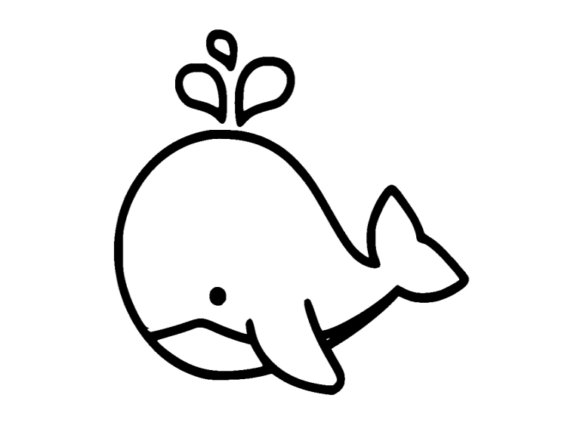 Print on Demand: Whale Icon Graphic Icons By ermannofficial