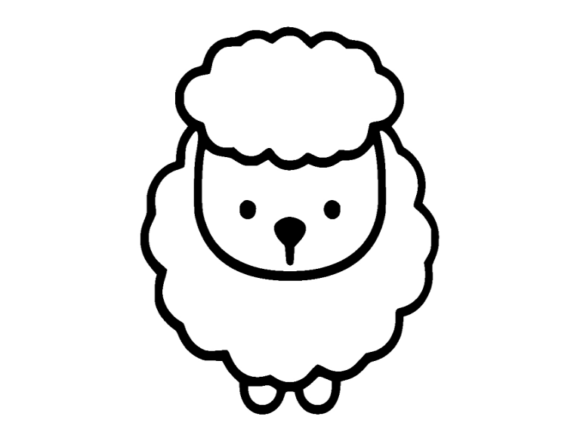 Print on Demand: Sheep Icon Graphic Icons By ermannofficial