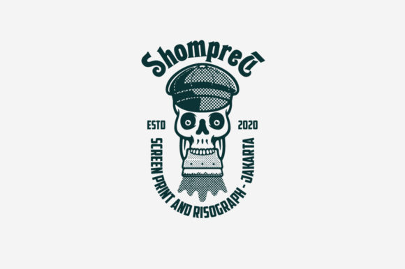 Download Free Shompret Logo Template Grafico Por Kreasimalam Creative Fabrica for Cricut Explore, Silhouette and other cutting machines.