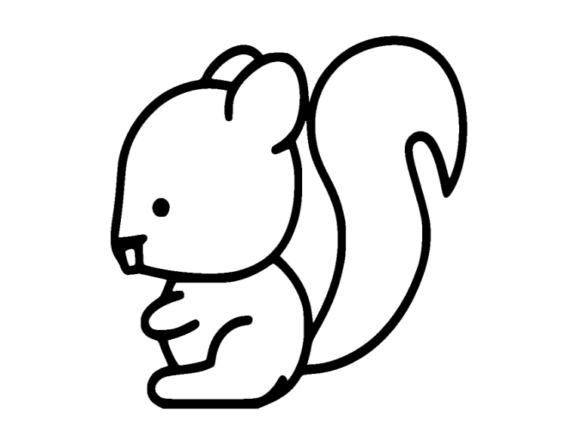Print on Demand: Squirrel Icon Graphic Icons By ermannofficial