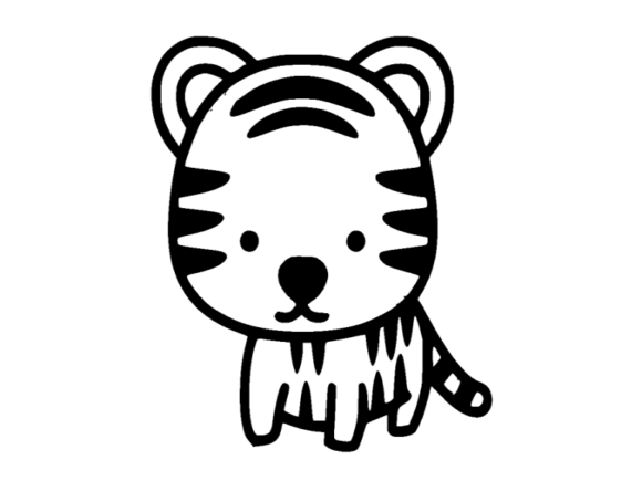 Print on Demand: Tiger Icon Graphic Icons By ermannofficial