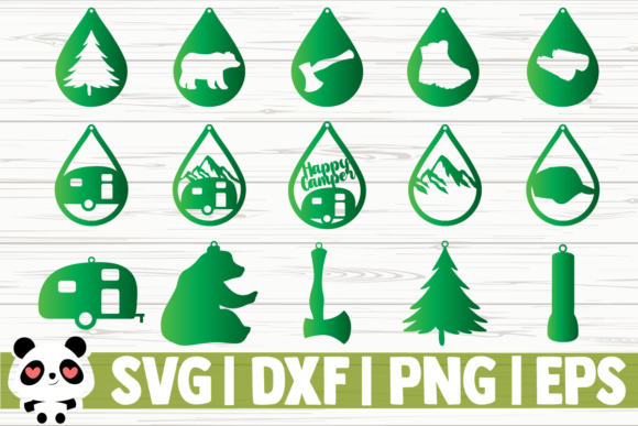 Download Free 15 Camping Earring Designs Graphic By Creativedesignsllc for Cricut Explore, Silhouette and other cutting machines.